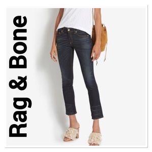 RAG & BONE Santiago Raw Hem Cropped Jeans size 28